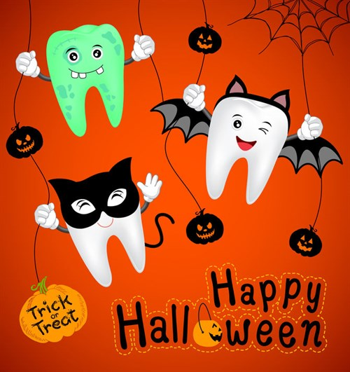 Healthy teeth Halloween