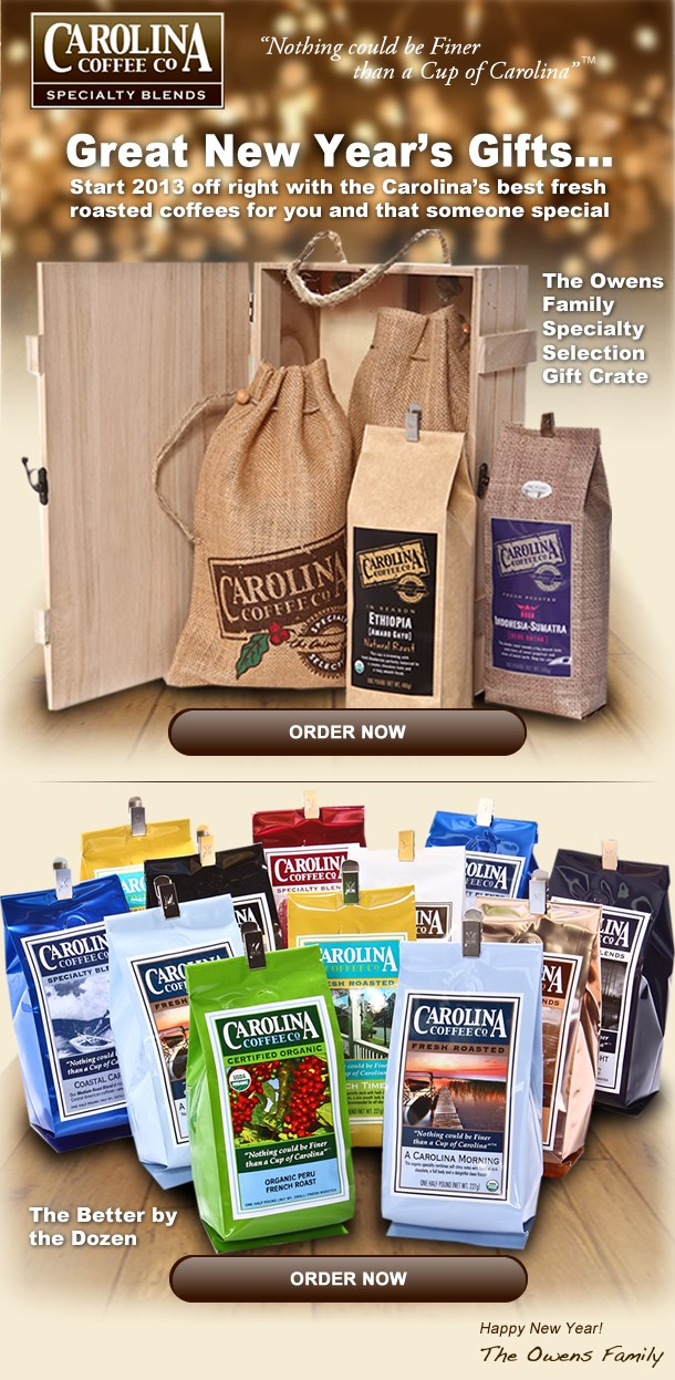 Great New Year's Gifts...  The Owens Family Specialty Selection Gift Crate / The Better by the Dozen  Happy New Year! The Owens Family